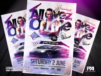 All Eyez On Me PSD Flyer Template by pawlowskiart