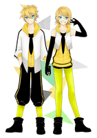 Kagamine Rin and Len: ReaLizer by KUREiiRO