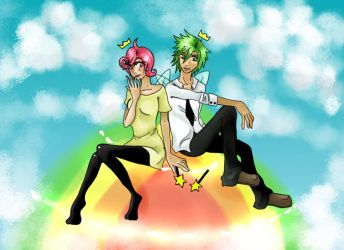 Cosmo and Wanda: Rainbow road by Sonneninsel