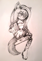 {At with Merykawaii} Mery the Squirrel by fangirl-sonicteam