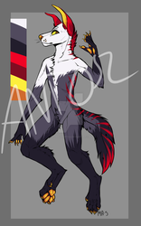 Fire doggo auction OPEN by animaladopts4u
