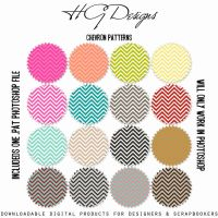 Chevron Patterns by HGGraphicDesigns