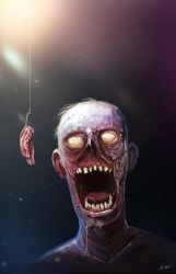 zombies and bacon by davidwehmeyer