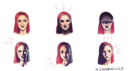 Face Lighting Reference by xCandySlice