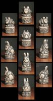 Wooden Rabbits by CopperCentipede