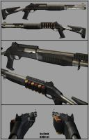 Weapon 3D: Shotgun benelli m4 by Kruku