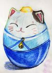 Japanese Porcelain Cat by Andailite47