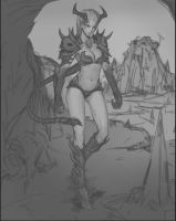 Dark Lady (WIP) by Marfrey