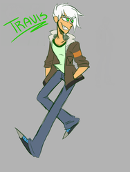 Travis as Lance (Aphmau and Voltron AU) by Puppieluv42