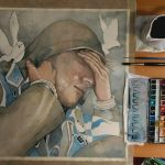 Work in progress, watercolor by jane-beata