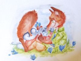 Bunny Cuddle by TheFredricus