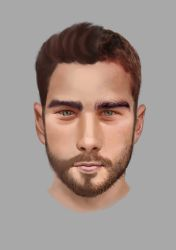 Male Face Experiment by Hikari-chyan