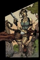 tomb raider colored by Alex0wens