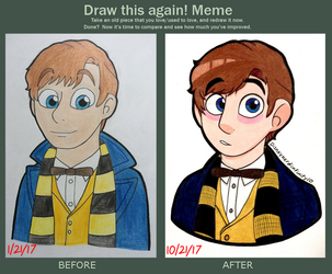 Draw this again (Newt Scamander) by Infinity-Drawings