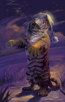 DS1 - Sleepwalking tiger by MalthusWolf