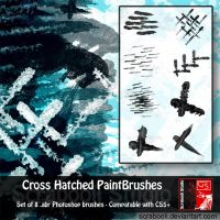 Photoshop brush set - Cross Hatched Paintbrushes by Scrabooli