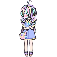 Pastel Girl with Heart Eyepatch by Rosemoji