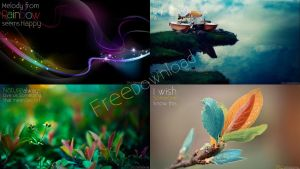 Simple Nature Word Wallpaper by 7Dito