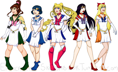 Sailor Moon Team (With Reworked Fukus) by Emmerah