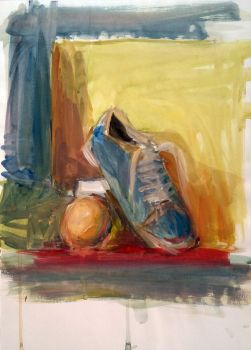 Shoe and orange ball by UmbrellaFighter