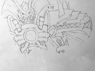 Digimon Sketch Challenge: Day #28 by Omnimon1996