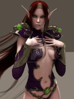 sexy fantasy red elf sorcerer 45 by Evinessa