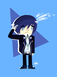 Persona 3 ~ The Protagonist by HarajukuNoMatie