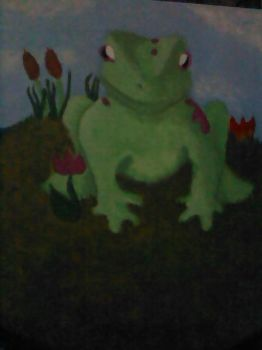 Frog painting by Goddesofwolves
