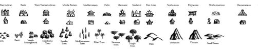 Brandon S. Pilcher's Diverse Map Icons by TyrannoNinja