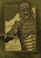 Creature from the Black Lagoon by muzski