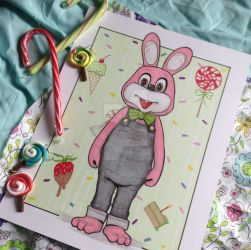 Silent Hill 3 - Robbie Rabbit by Amanda-Lara1996