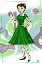 Fashion - 1950's Holiday Dress by MauserGirl