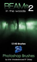 Shades Beams v.02 HD Photoshop Brushes by shadedancer619