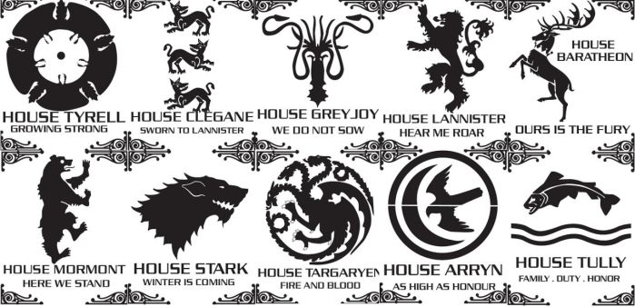 Game of thrones stencils by Bozebus