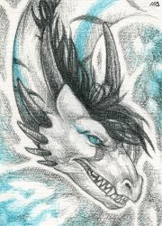 ACEO sketch for Rasha by Dragarta