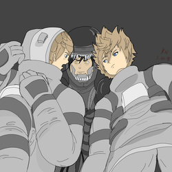 Space Roxas , Ventus and Xeno-Vanitas by Eclipse-Being