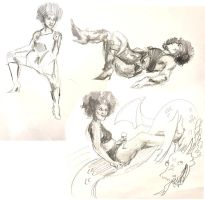 Dr. Sketchy + Jolie LaVie - 10 min by emera