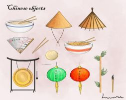 Chinese objects by Louisetheanimator