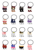 HOMESTUCK CLOTHING SPRITE SHEET by caecii