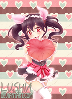 Valentine with Nico-chan by Lushia