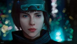 Ghost In The Shell - Scarlett Johansson by Razaras