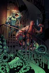 Hellboy and Abe by Furlani