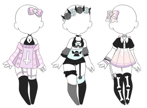 Adoptable pastel goth outfit (CLOSED) by Kyunn-Adoptable