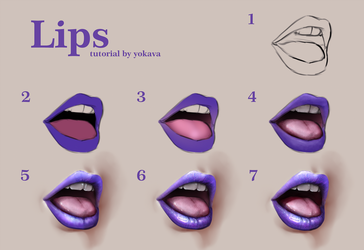 Lips tutorial by yokava
