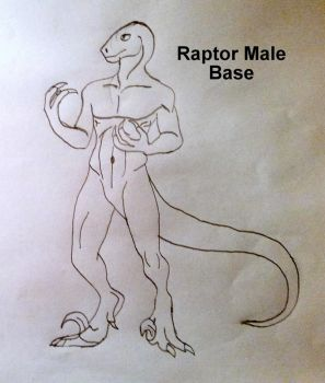 Anthro Raptor Male Base by MiguelofKing