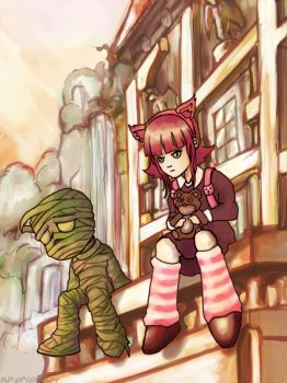 lol amumu and Annie by miraiart