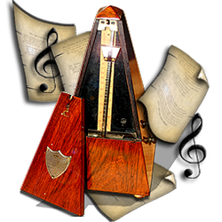 Steampunk Metronome Icon for Audacity by yereverluvinuncleber