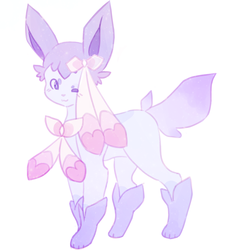 Sylveon and Glaceon fusion by Whitestorm0