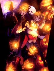 Kagamine Rin And Len by YUKina-JH