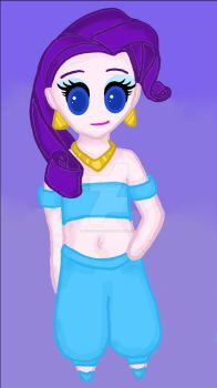 Rarity as Jasmine by WolfsGesang
